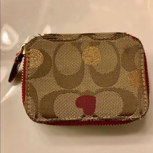 Coach (Rare Pattern) pill box!